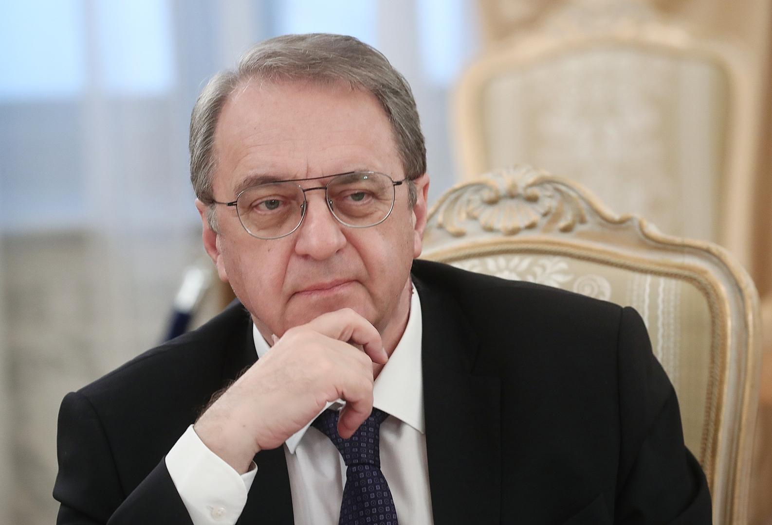 بوغدانوف: موسكو مستعدة لاستضافة اجتماع بين فصائل فلسطينية بمشاركة