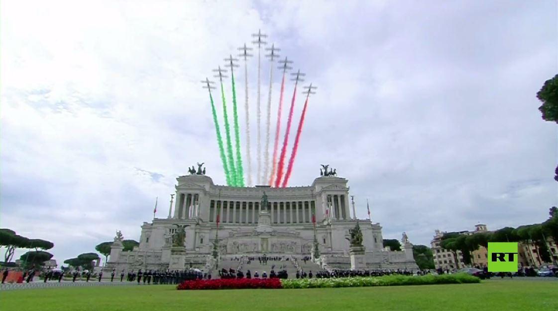 رئيس إيطاليا يشارك في فعاليات احتفالية بمناسبة عيد الجمهورية
