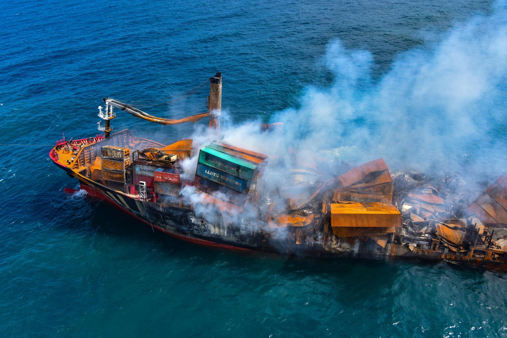 سريلانكا تستعد لاحتمال تسرب نفطي بعد غرق سفينة محملة بمواد كيميائية قبالة ساحلها