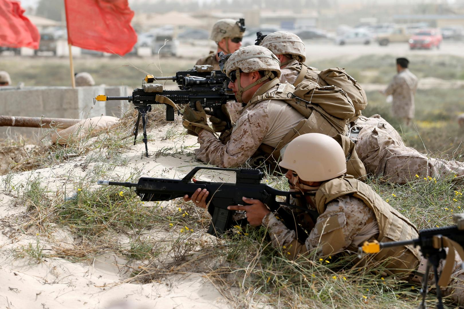 شاهد.. تدريبات عسكرية سعودية-أمريكية مشتركة في جدة