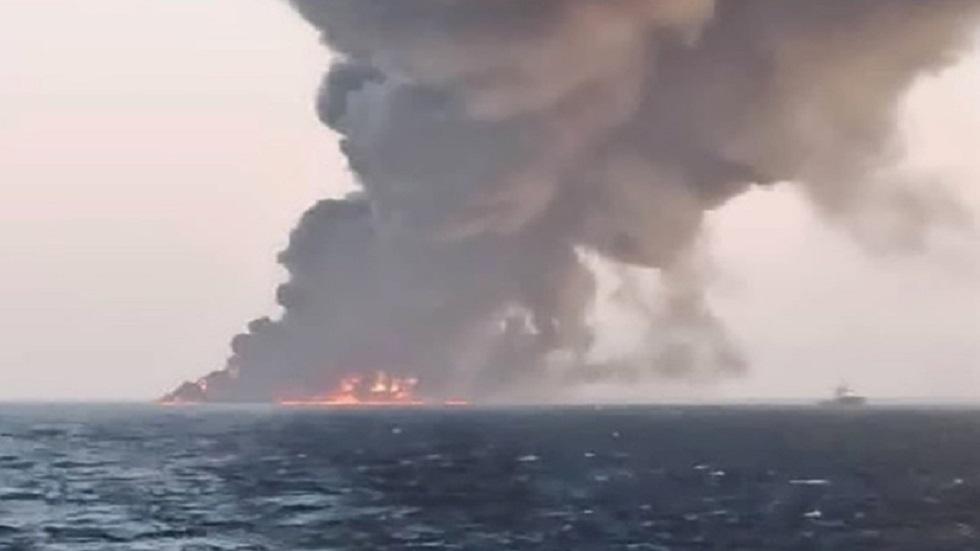 صور أقمار صناعية تظهر هيكل ما كان أكبر سفينة حربية إيرانية