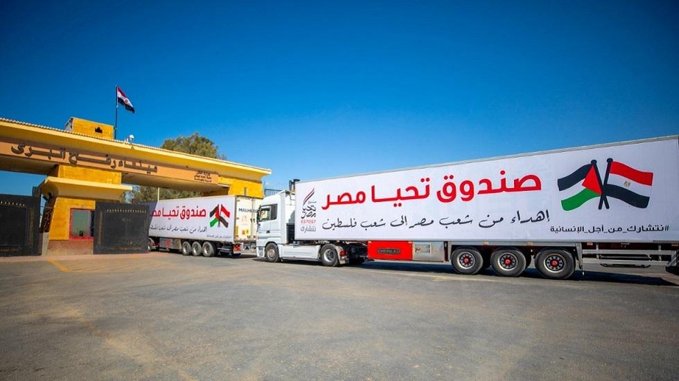 معدات وأطقم هندسية مصرية تدخل غزة لإعادة الإعمار