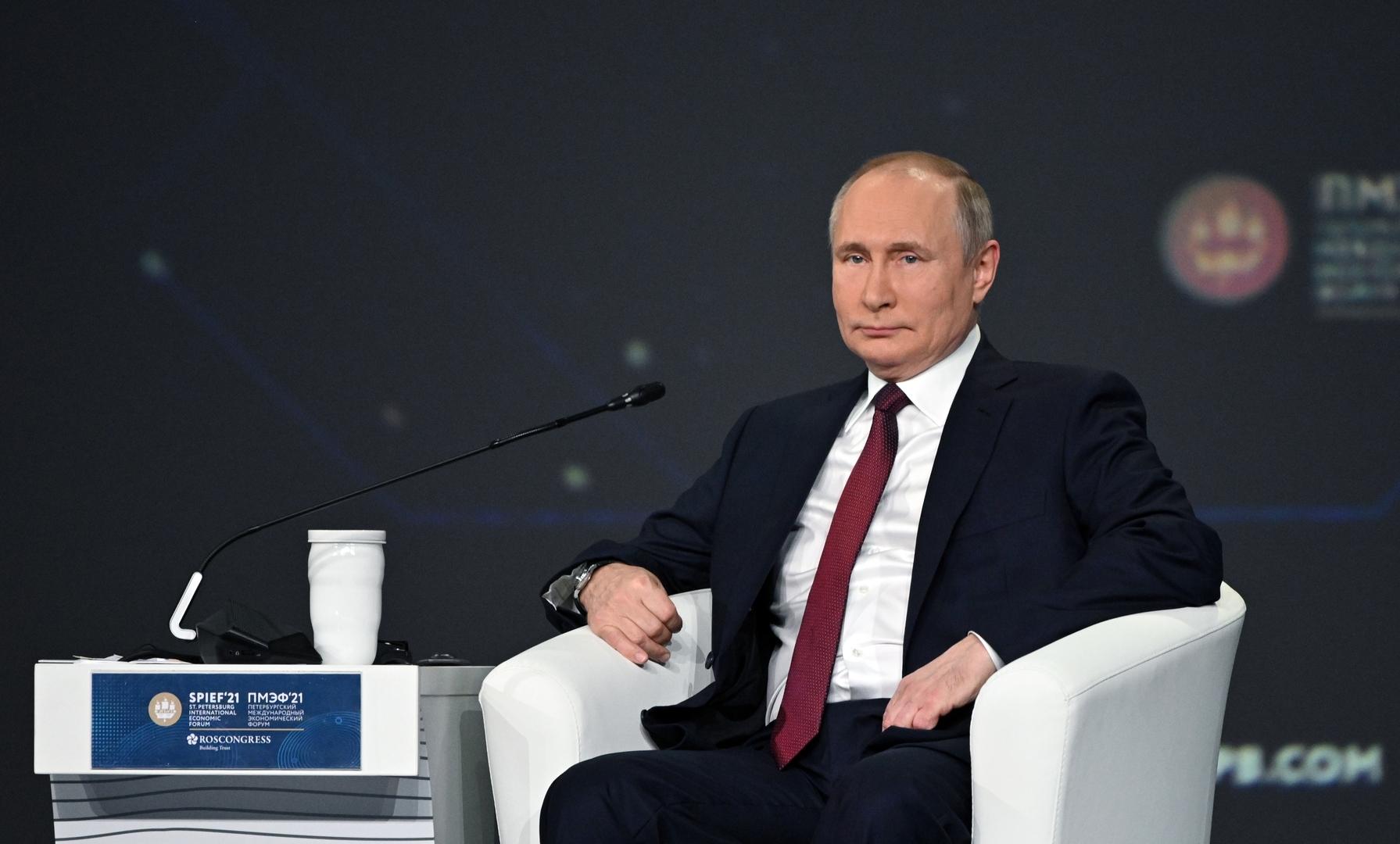 بوتين يعلق على دور حركة