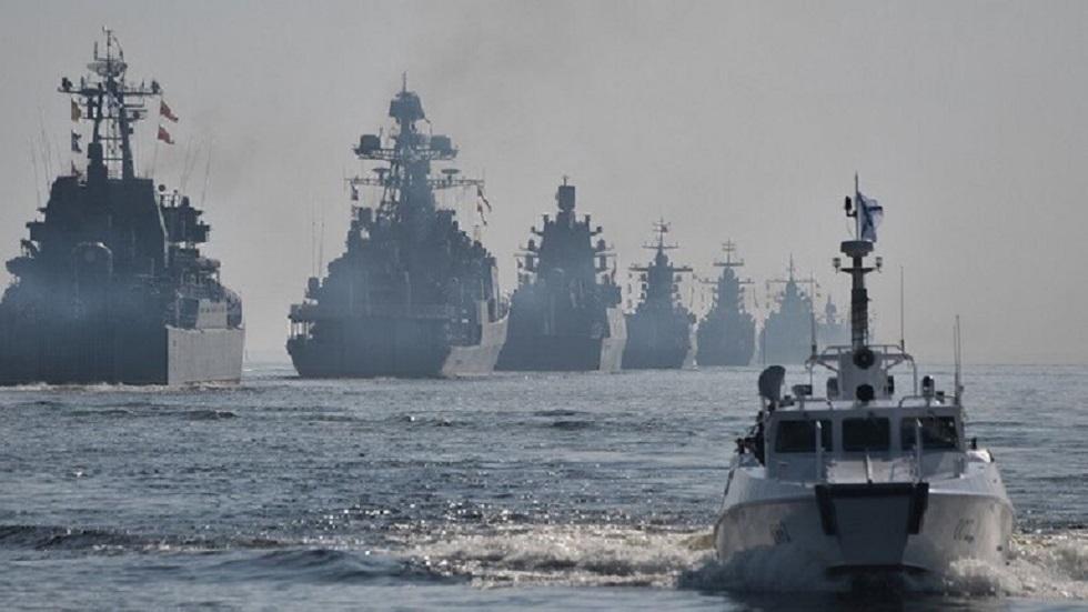 سفن حربية تابعة للبحرية الروسية - أرشيف