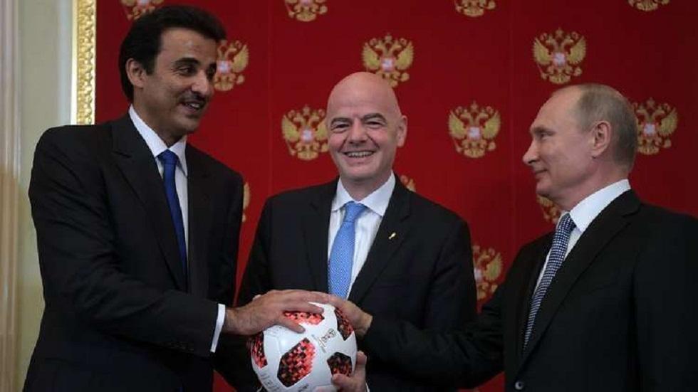 أمير قطر: روسيا رفعت عاليا سقف تنظيم كأس العالم خلال مونديال 2018