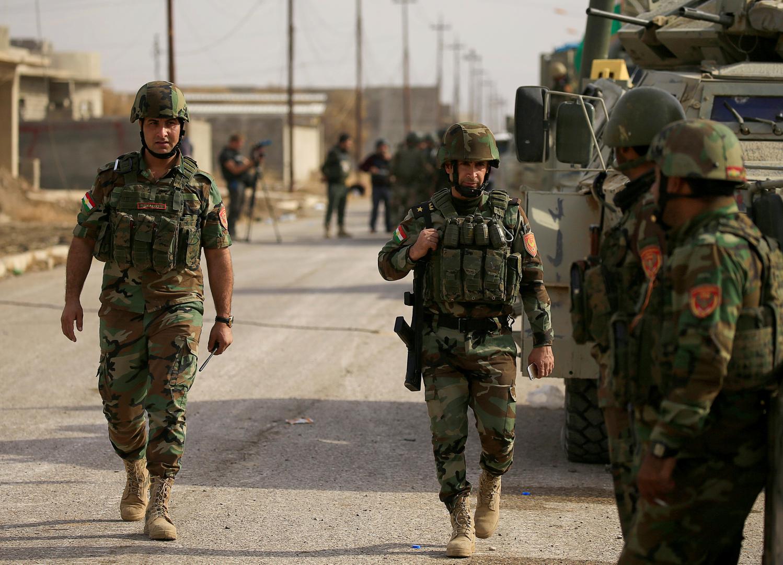 عناصر من قوات البيشمركة الكردية، أرشيف
