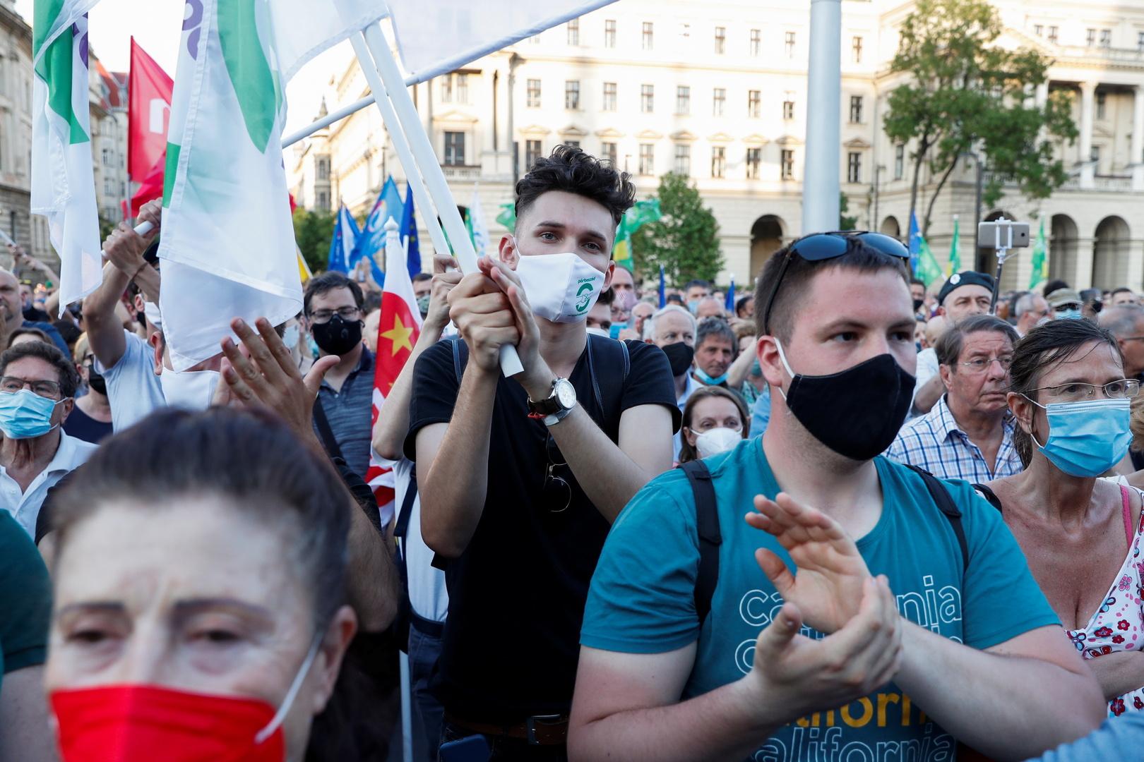 الاحتجاج عل بناء الجامعة الصينية في بودابست