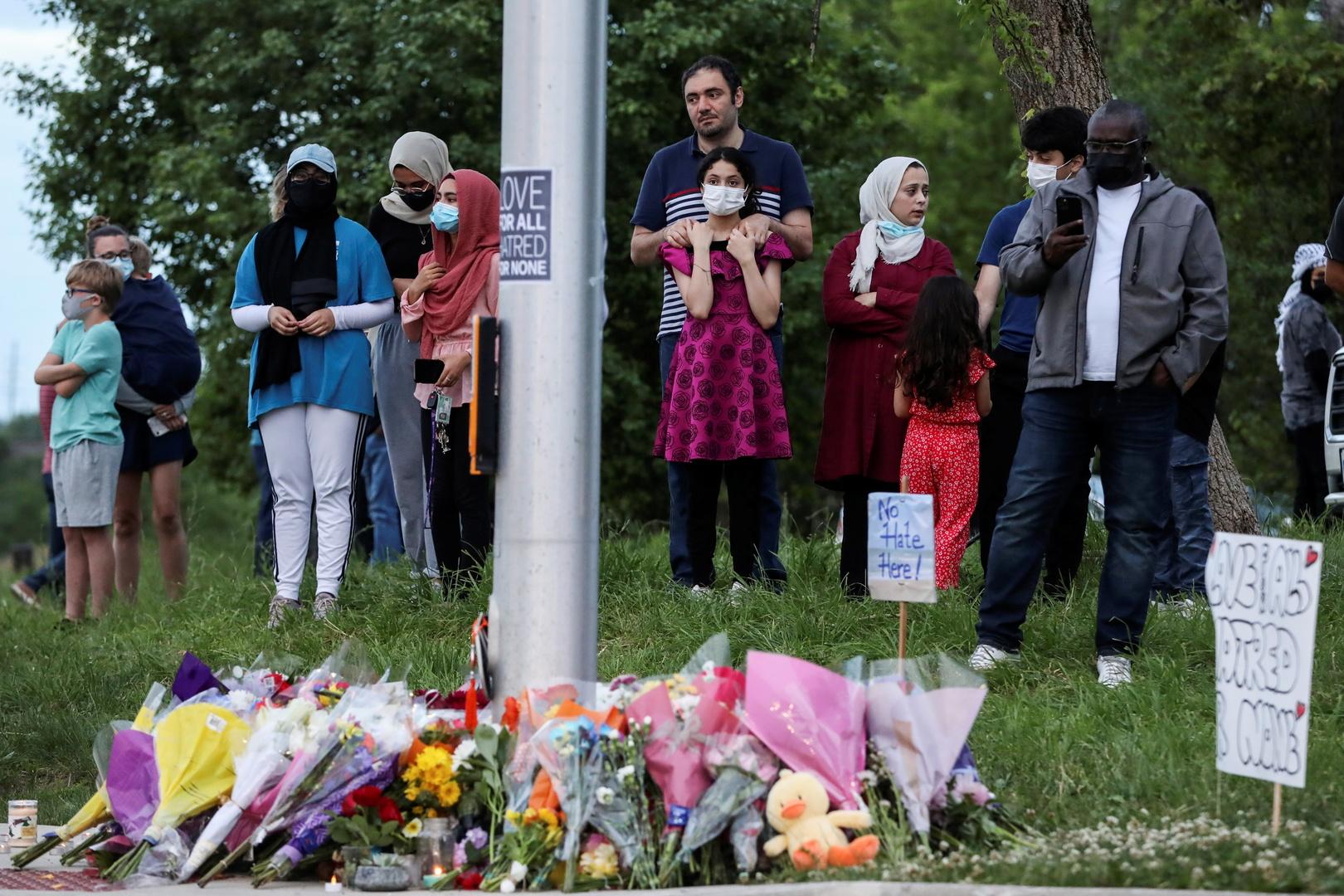 مكان حادثة دهس العائلة المسلمة في كندا