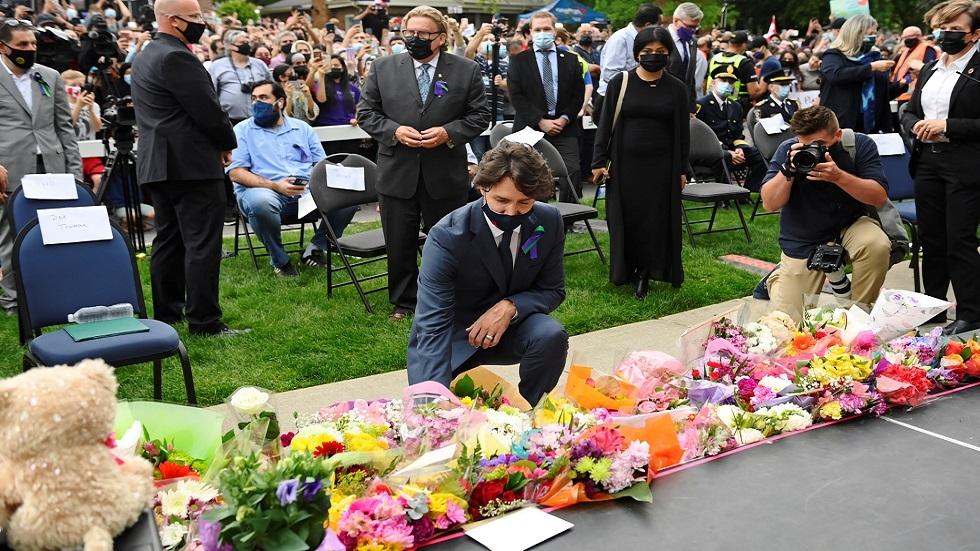 ترودو يشارك في وقفة احتجاجية عقب مقتل أسرة مسلمة كندية دهسا
