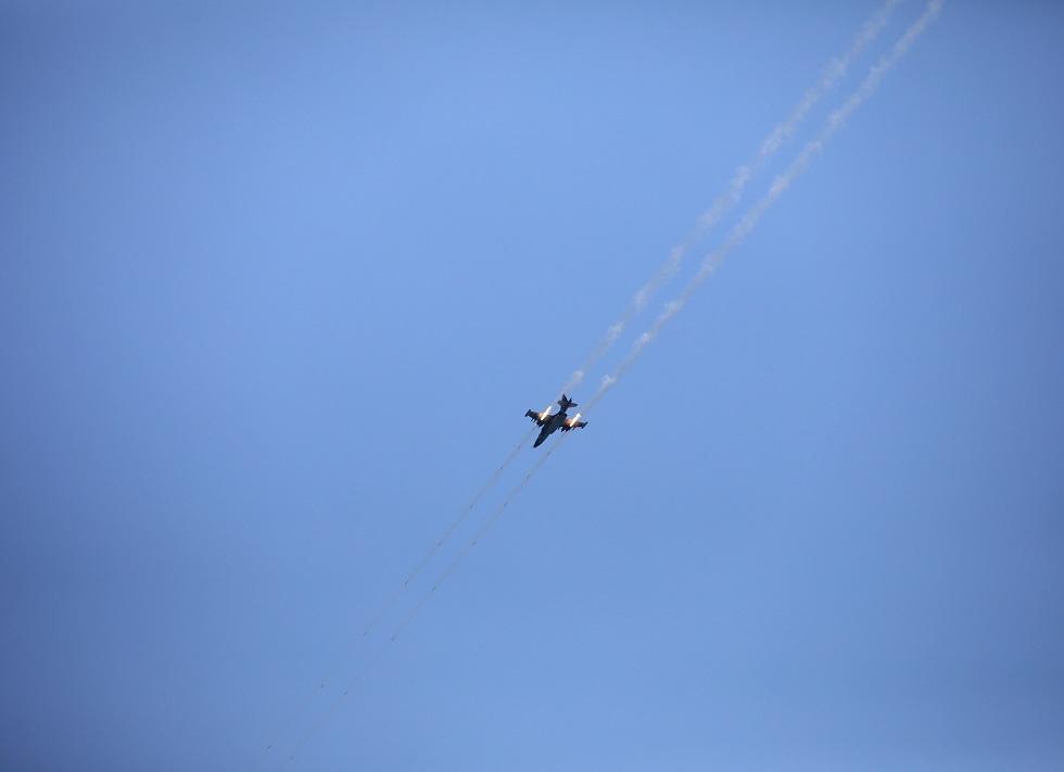 طائرة حربية بلغارية خلال تدريبات (صورة أرشيفية)