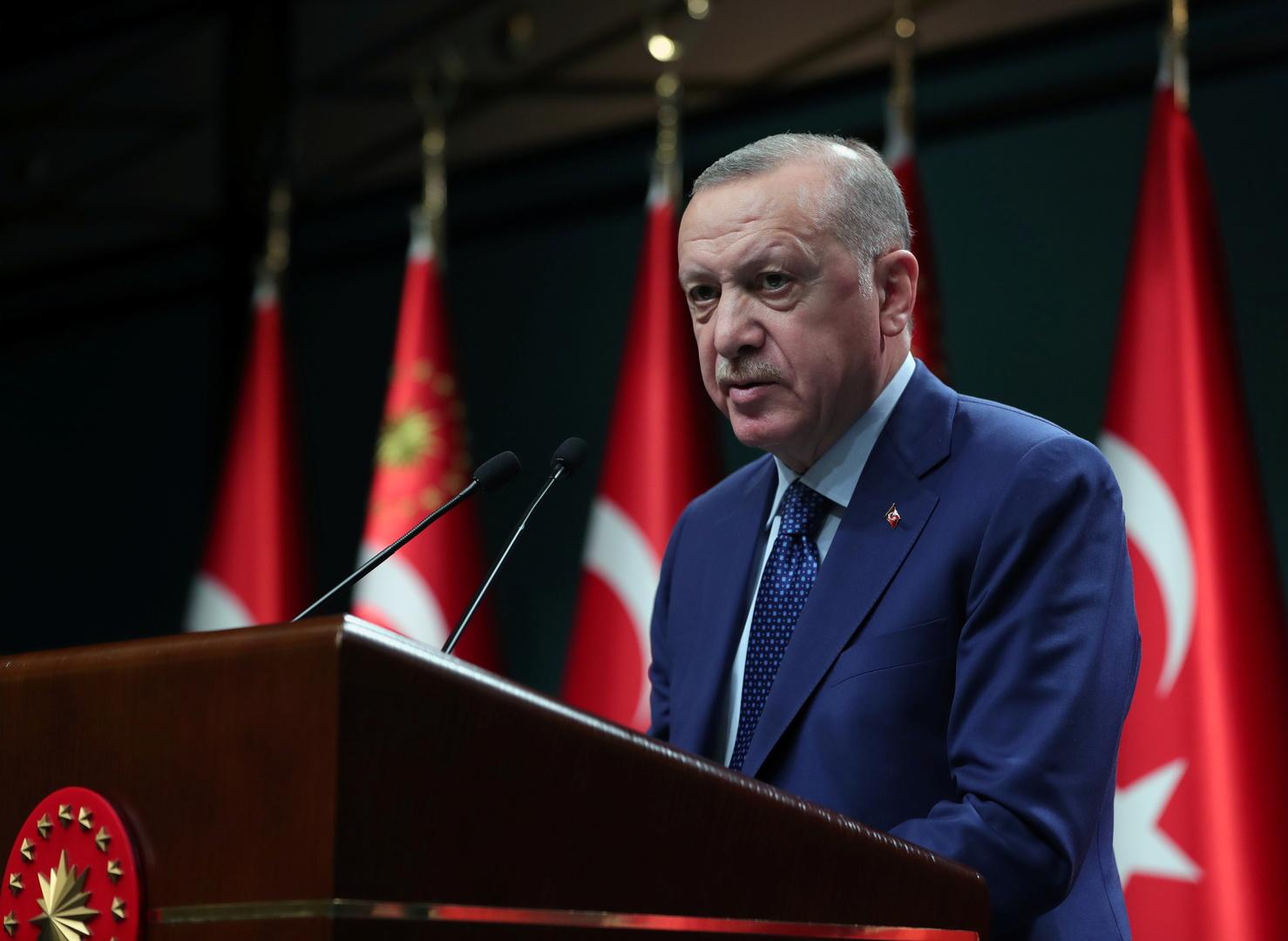 أردوغان: نواجه التهديدات على حدودنا بدعم ومساعدة الشعب التركي