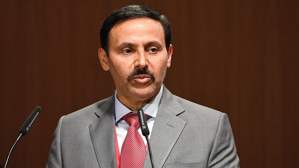 السفير القطرى لدى روسيا الشيخ أحمد بن ناصر آل ثاني خلال مشاركته في منتدى بطرسبورغ الاقتصاديى الدولي في يونيو 2021