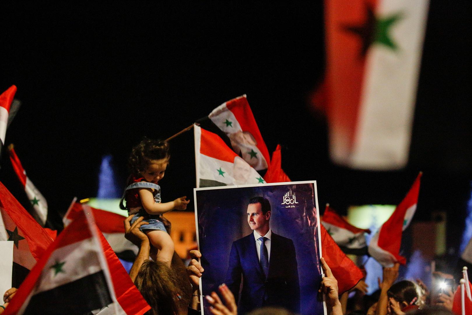 احتفالات بفوز بشار الأسد بولاية رئاسية جديدة