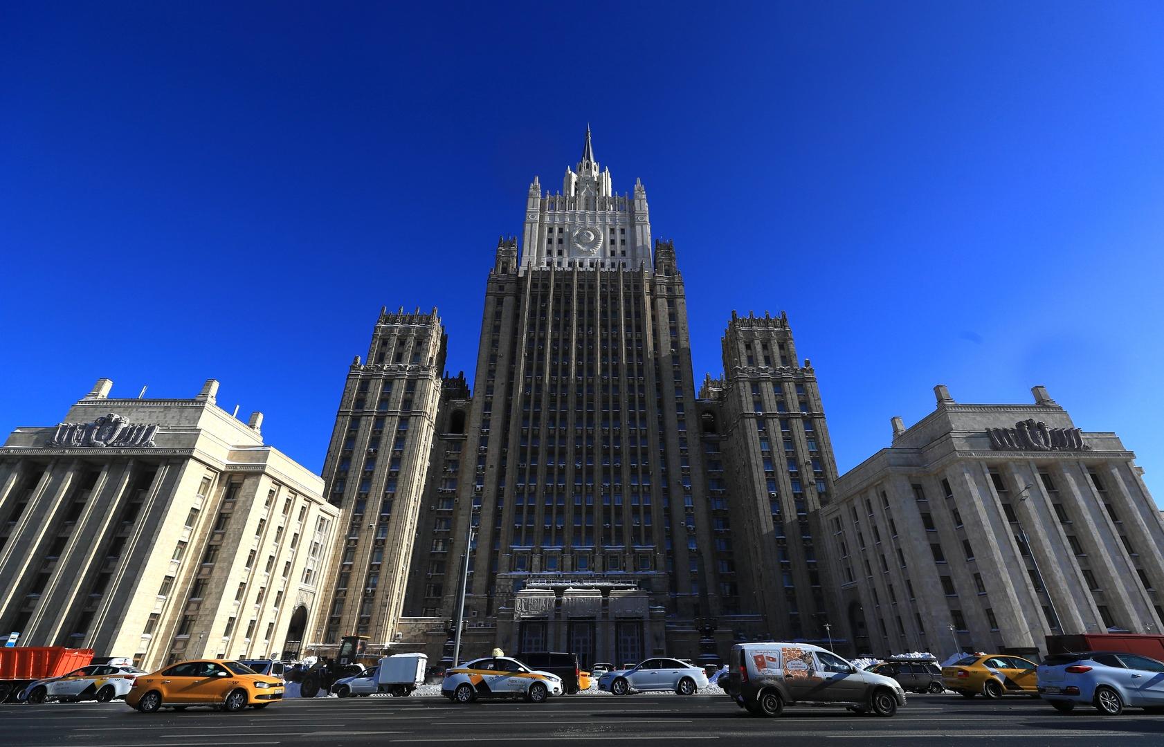 الخارجية الروسية تعلن دبلوماسيا في سفارة مقدونيا الشمالية لدى موسكو شخصية غير مرغوب فيها