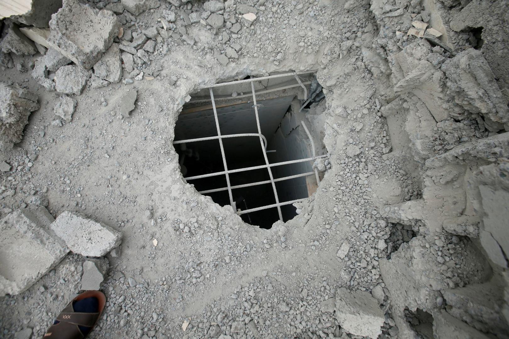 آثار هجوم صاروخي - العراق - صورة أرشيفية