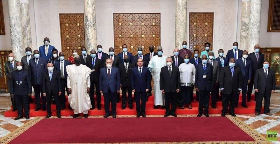 السيسي: حاربنا الإرهاب بالتوازي مع جهود التنمية الشاملة ومستعدون لمساندة الدول الإفريقية بذلك (صور)