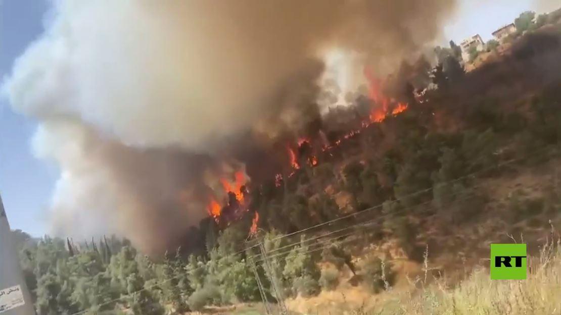 مشاهد جديدة لحرائق في غلاف القدس