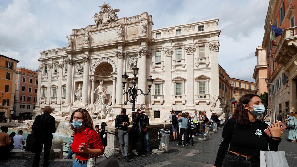 روما في زمن جائحة فيروس كورونا.