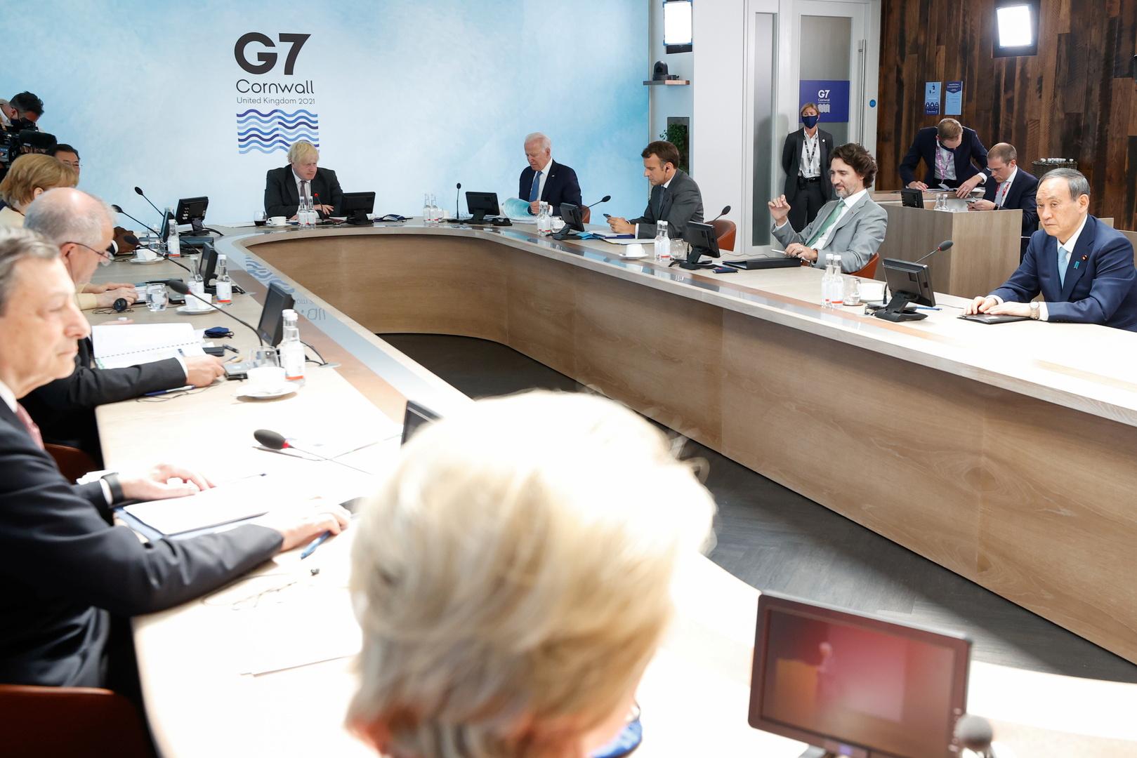 قمة G7 في كورنوال تطرح هدف إنهاء جائحة كورونا حتى 2022