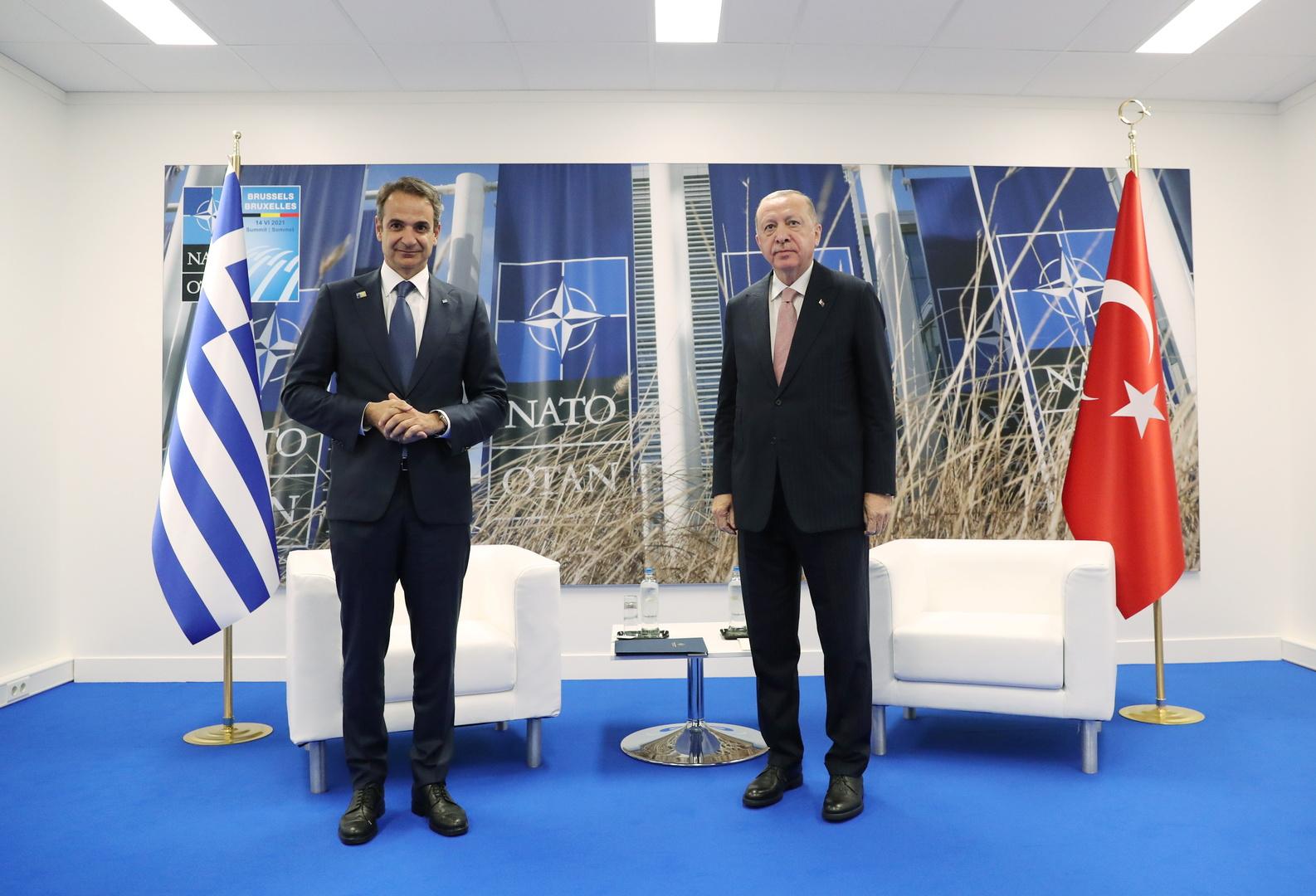 مصادر: زعيما تركيا واليونان يتوصلان إلى تفاهم لمنع تكرار توتر 2020