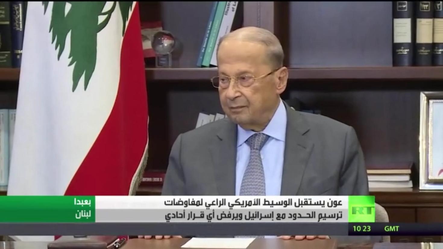 الوسيط الأمريكي في لبنان لإحياء ترسيم الحدود