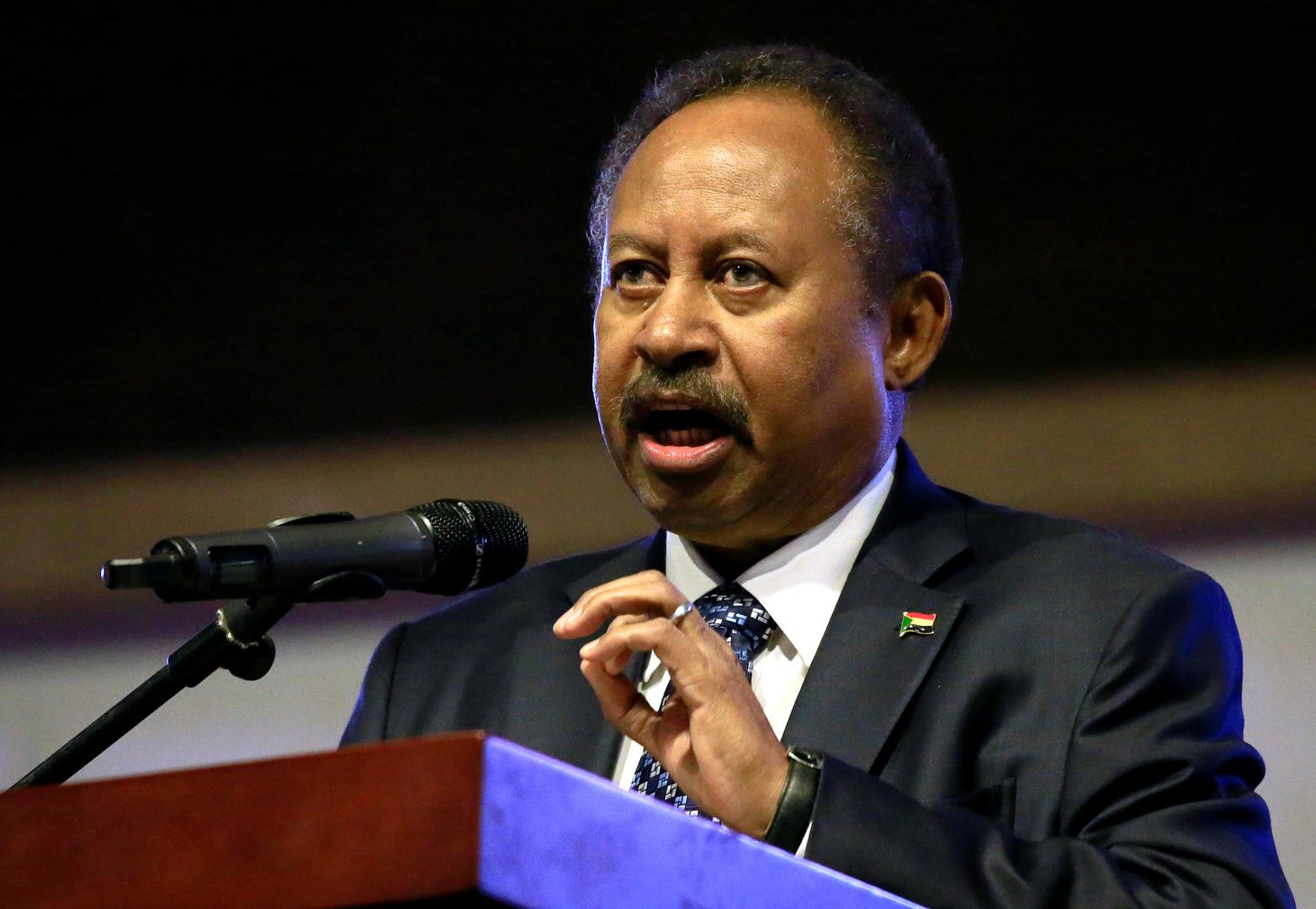 رئيس وزراء السودان، عبد الله حمدوك.