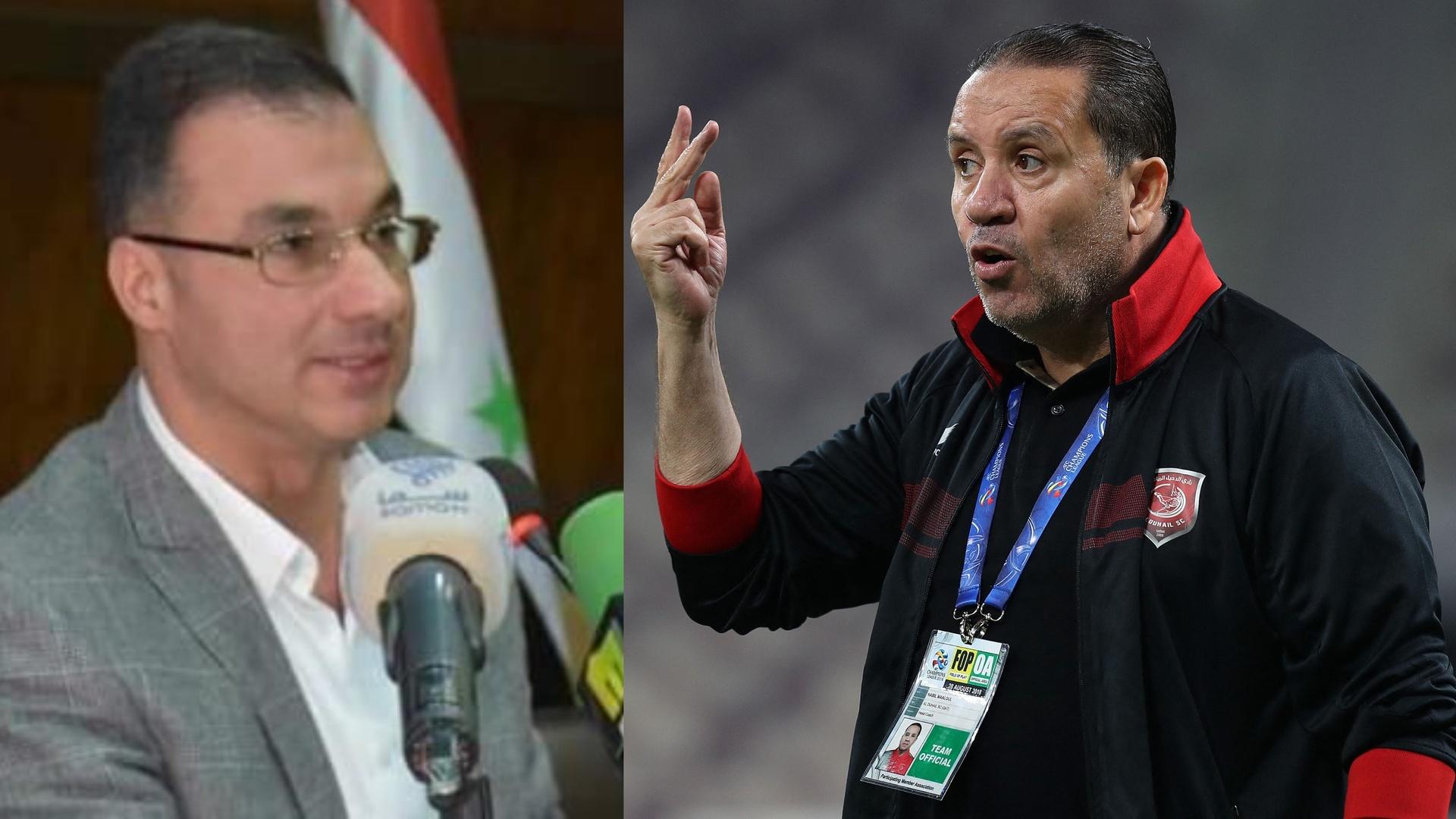 رئيس الاتحاد الرياضي السوري ينتقد معلول ويطالبه بالاستقالة