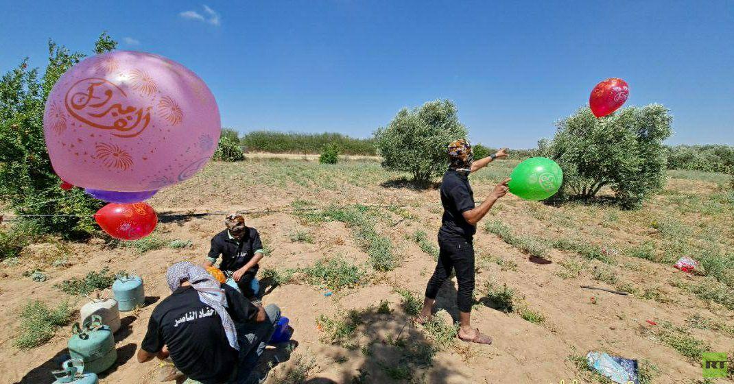 اندلاع حرائق جديدة في غلاف غزة بسبب دفعات من البالونات الحارقة (صورة+فيديو)