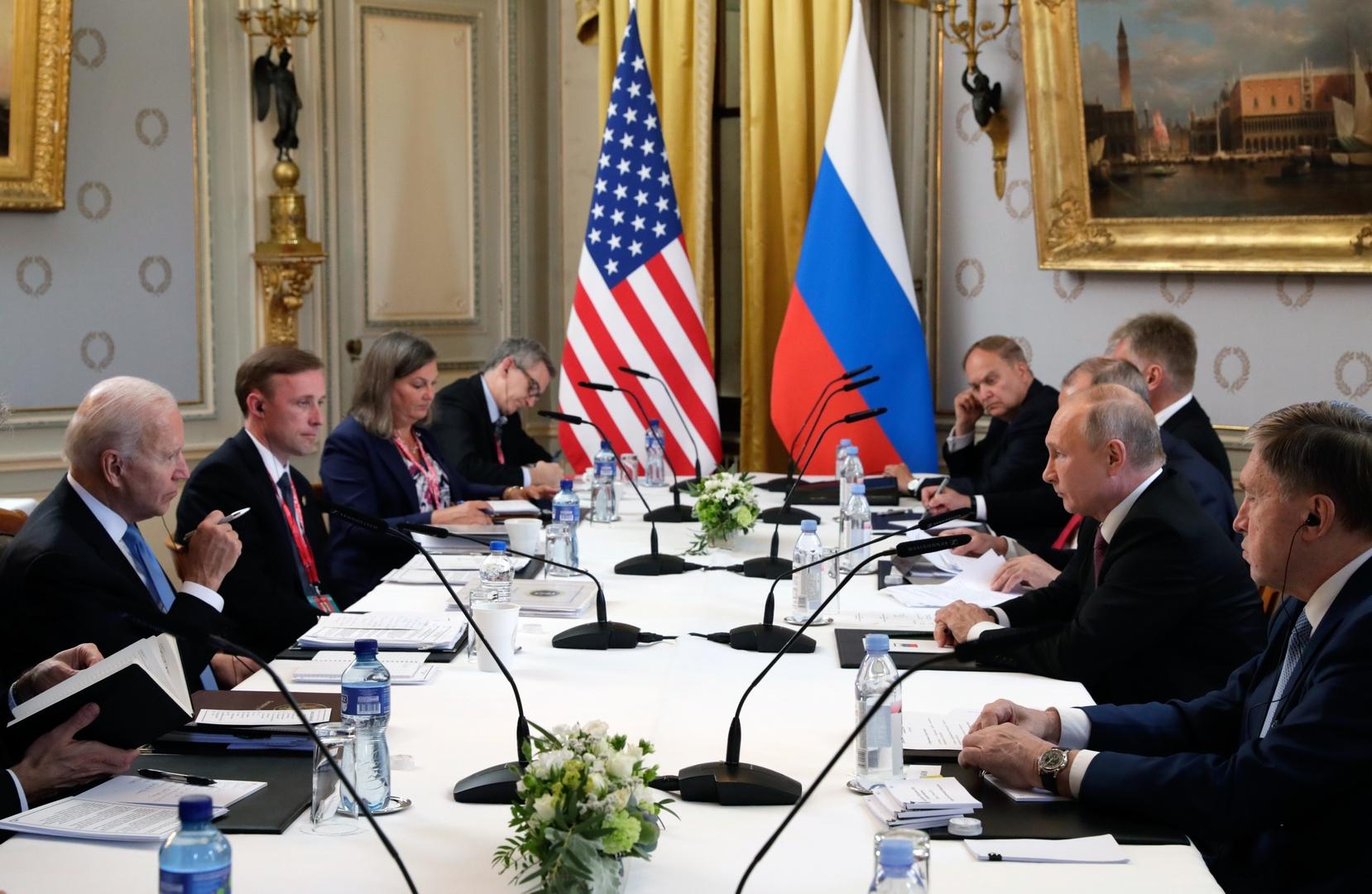 اختتام المحادثات الموسعة ضمن قمة بوتين-بايدن في جنيف