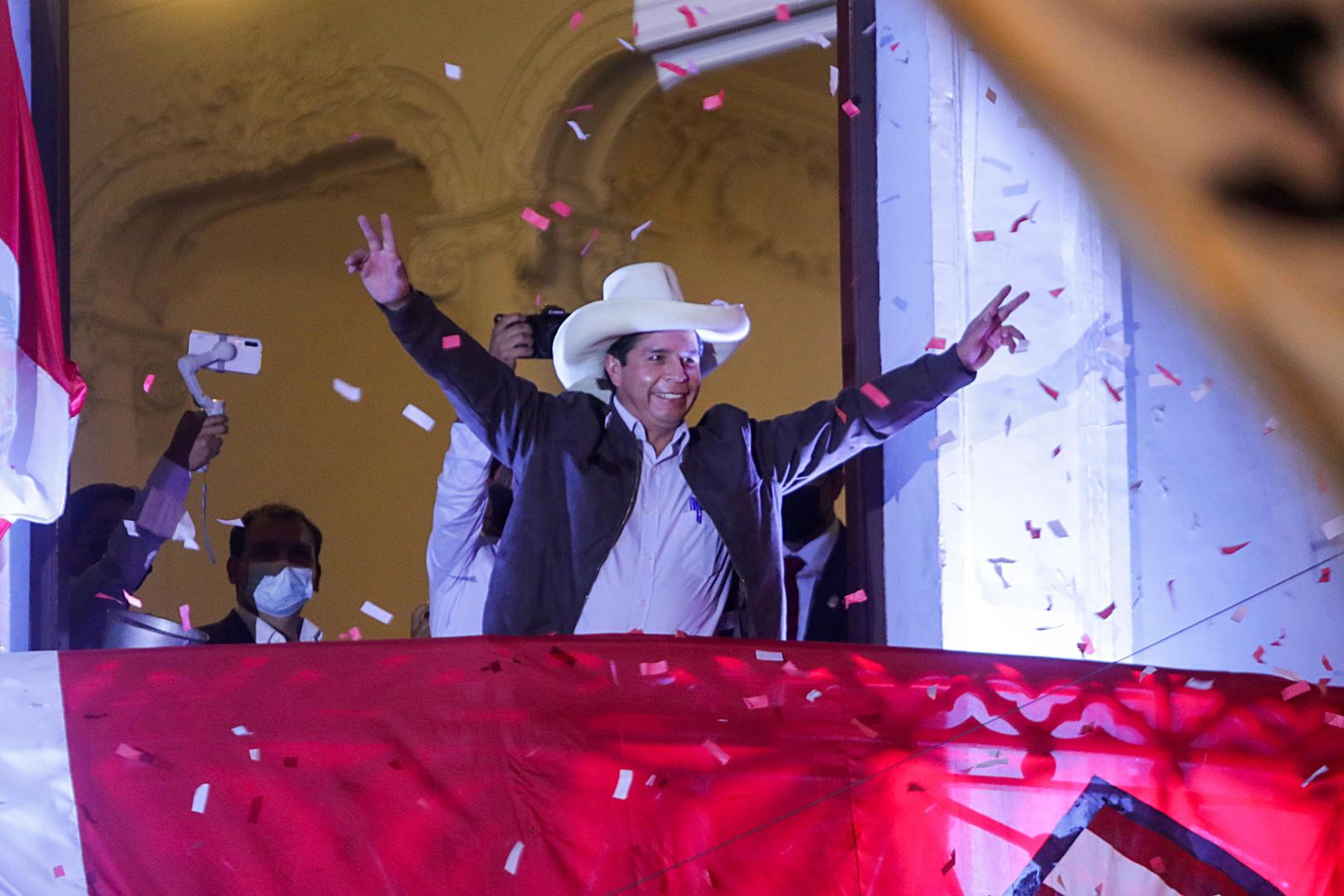 الرئيس البيروفي المنتخب بيدرو كاستيليو