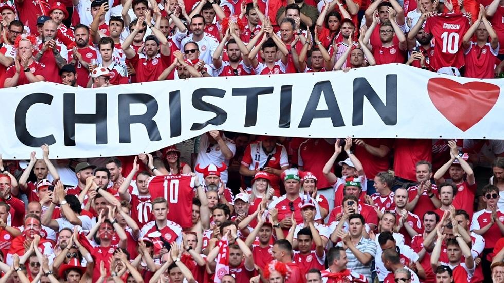 في مشهد إنساني.. توقف مباراة الدنمارك وبلجيكا لمدة دقيقة دعما لإريكسن (فيديو)