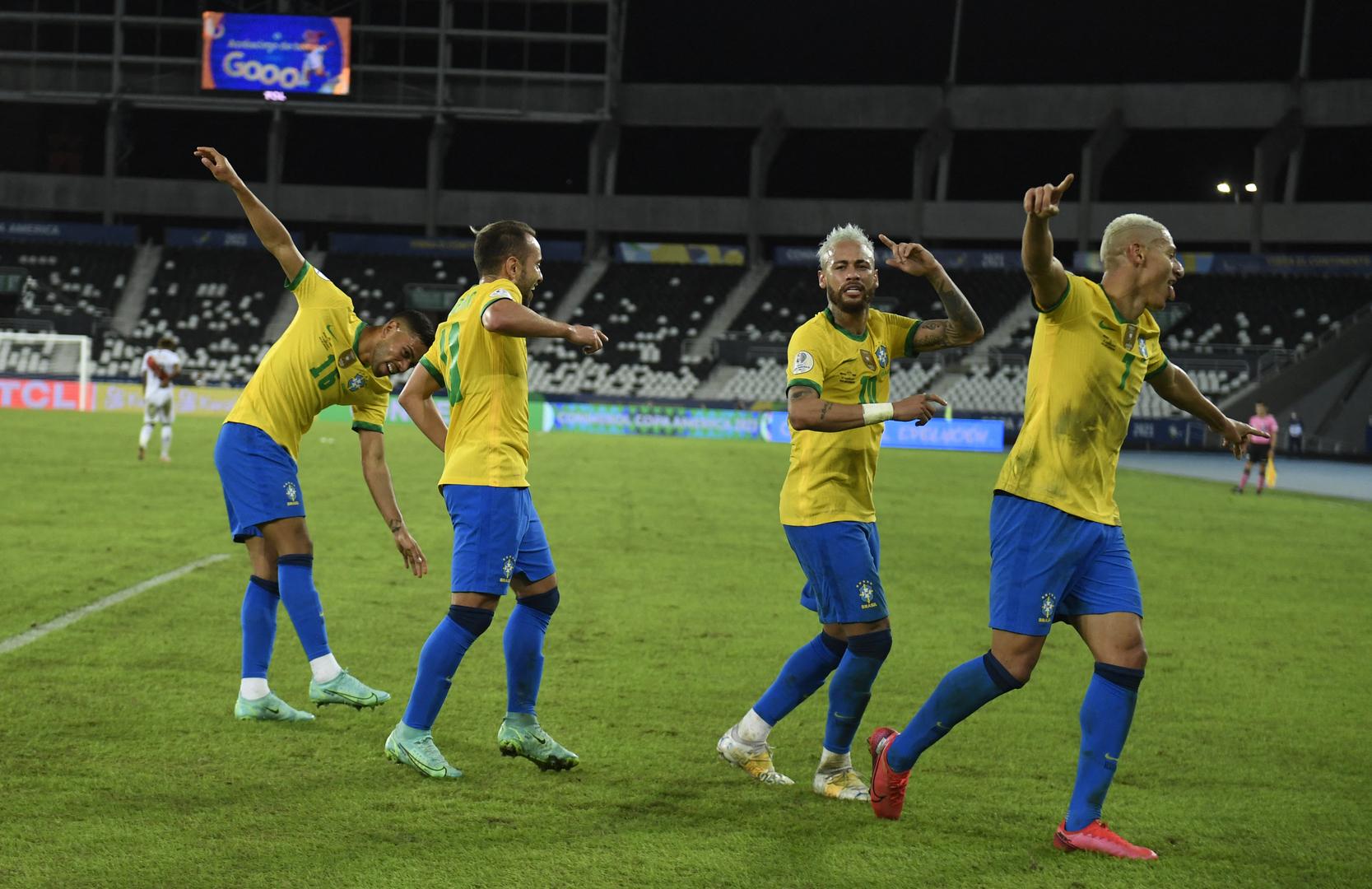 شاهد.. البرازيل تسحق بيرو برباعية في كوبا أمريكا