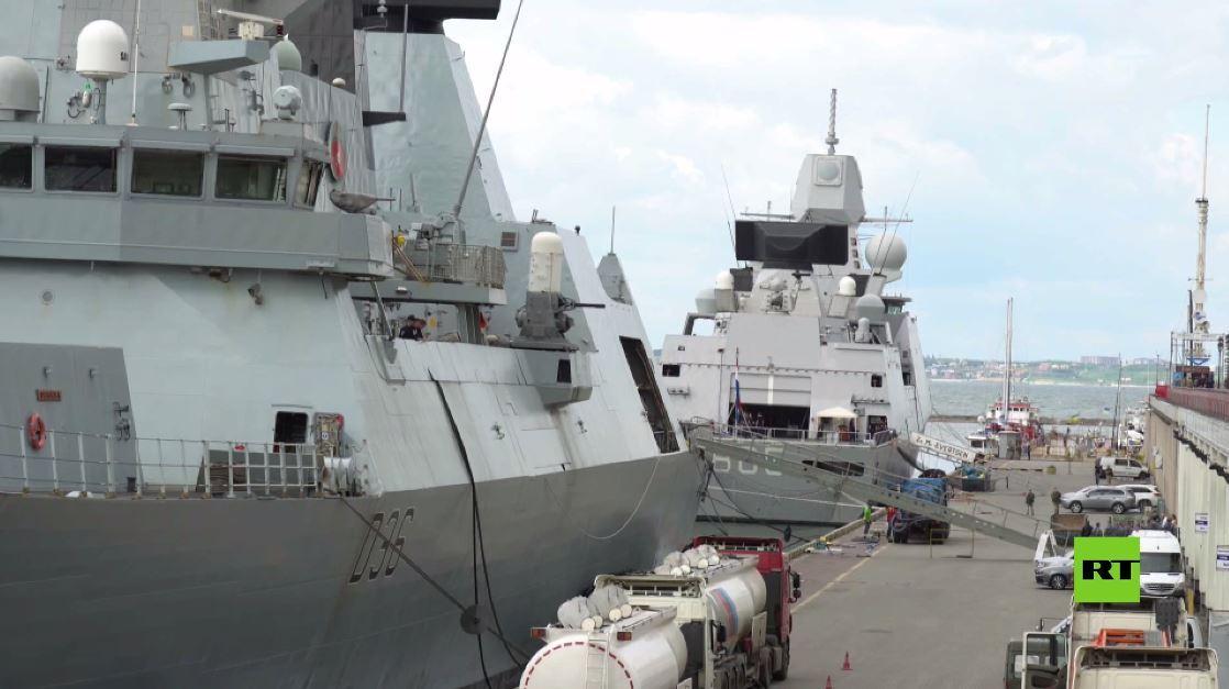 بالفيديو.. سفن الناتو ترسو في ميناء أوديسا الأوكراني