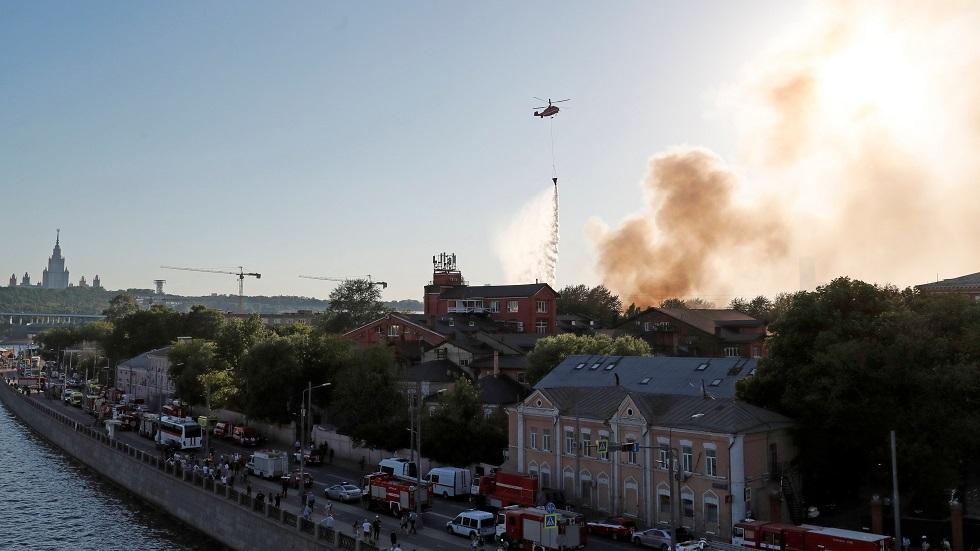 روسيا.. الكشف عن أسباب الحريق في مستودع المفرقعات بموسكو
