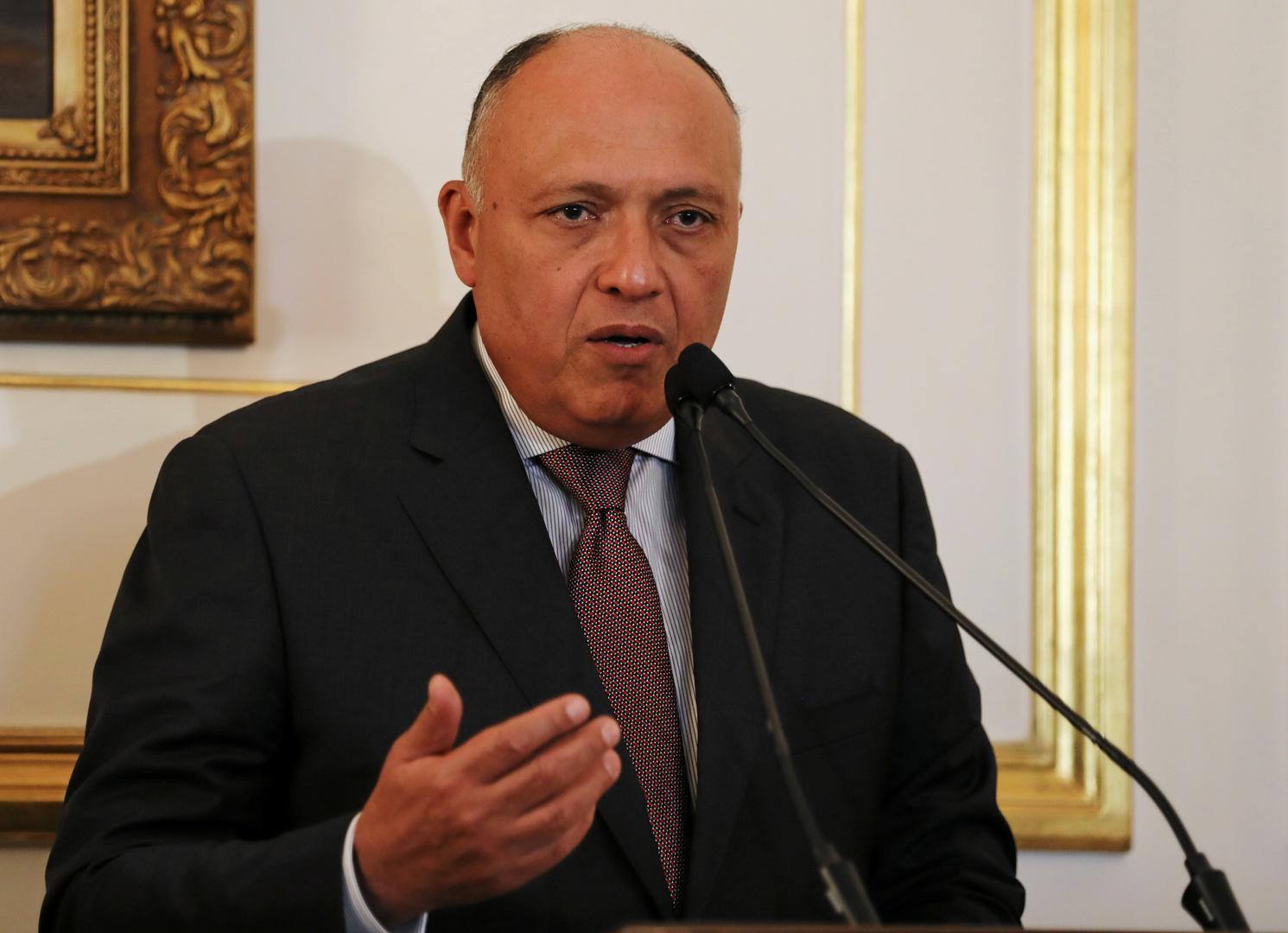 شكري يؤكد دعم مصر لسيادة ليبيا ويدعو لخروج جميع القوات الأجنبية والمرتزقة منها