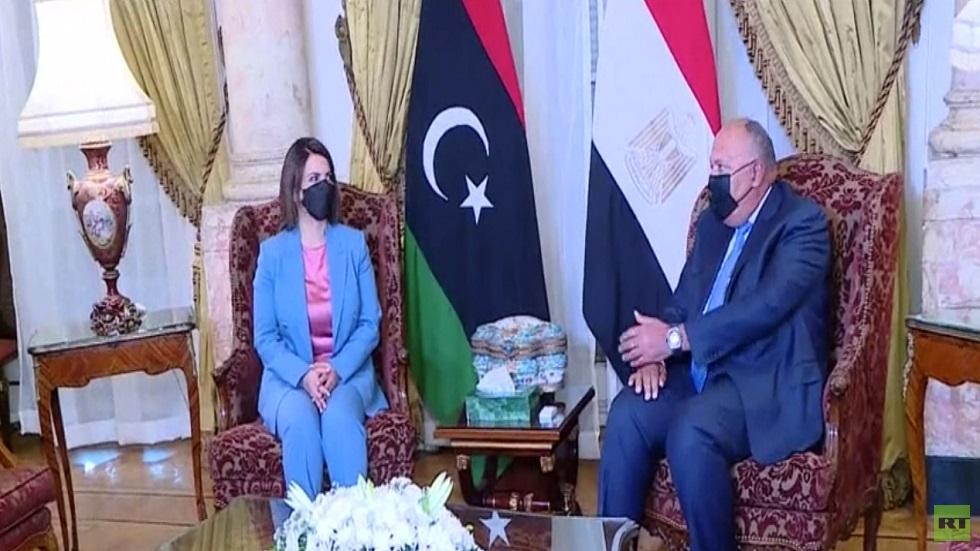 محادثات وزيرة الخارجية الليبية في مصر