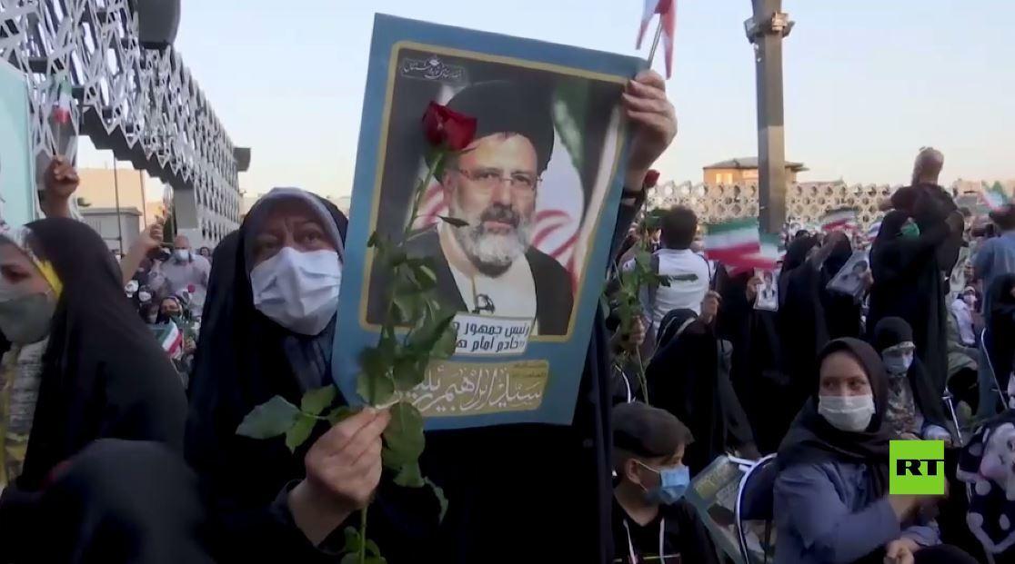 احتفالات واسعة في أنحاء إيران لمؤيدي إبراهيم رئيسي بعد فوزه في الانتخابات