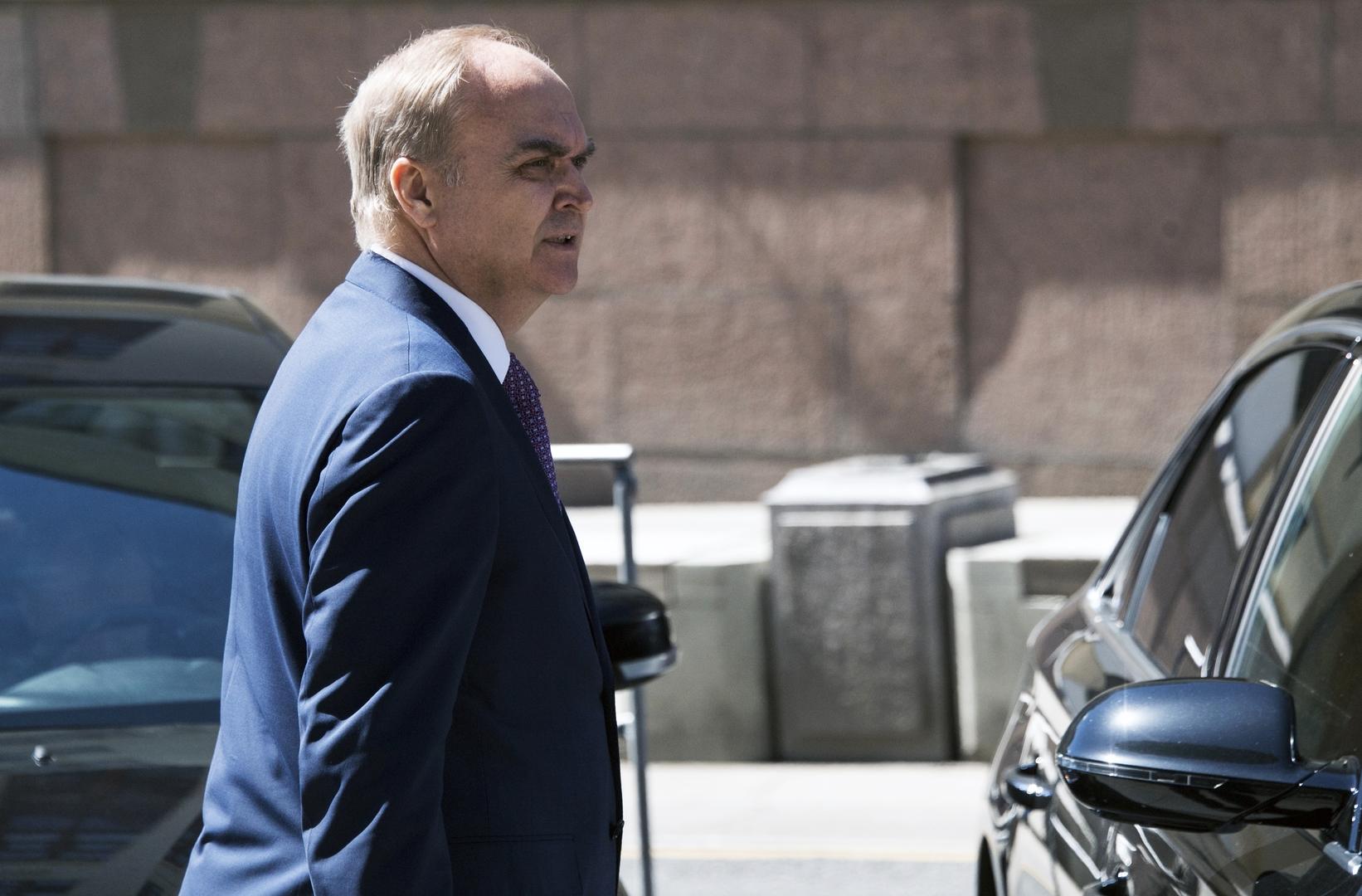 سفير روسيا يغادر موسكو عائدا إلى واشنطن