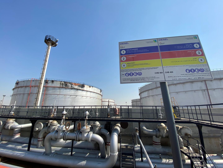 محطة توزيع تابعة لشركة أرامكو النفطية السعودية