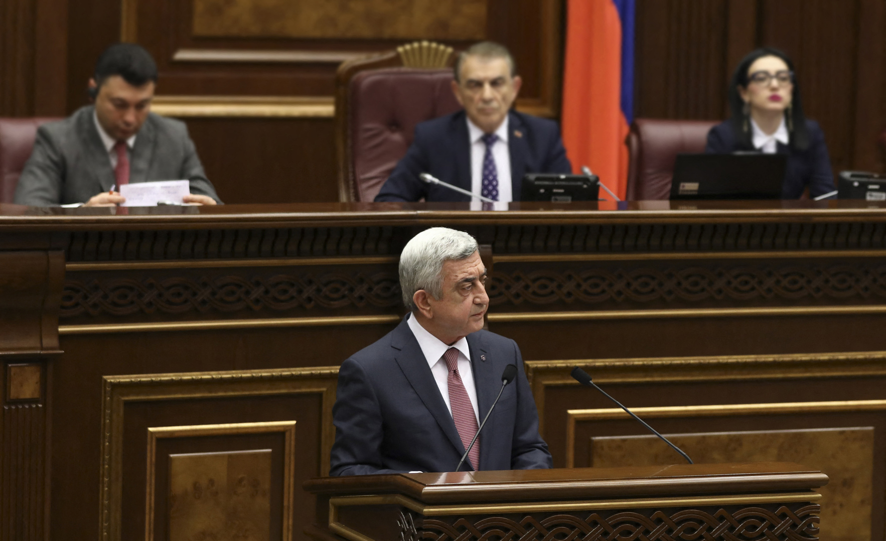 الرئيس الأرمني السابق سيرج سركسيان