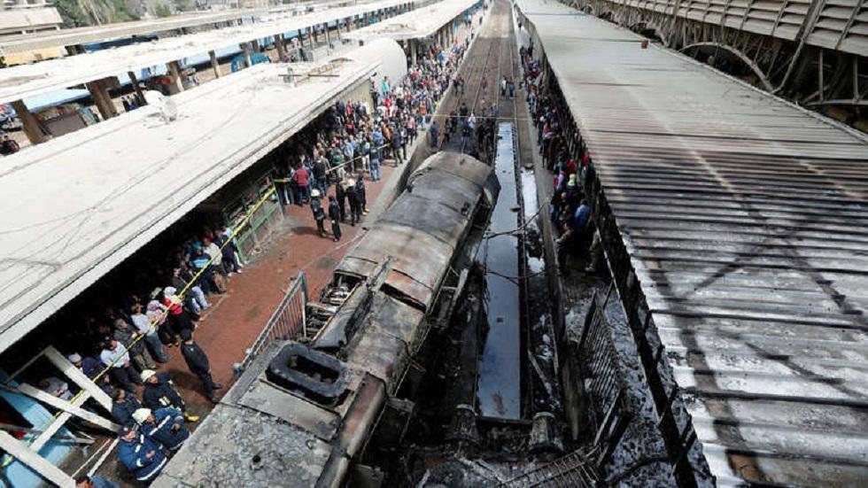النقل المصرية تكشف تفاصيل حادث قطار حلوان