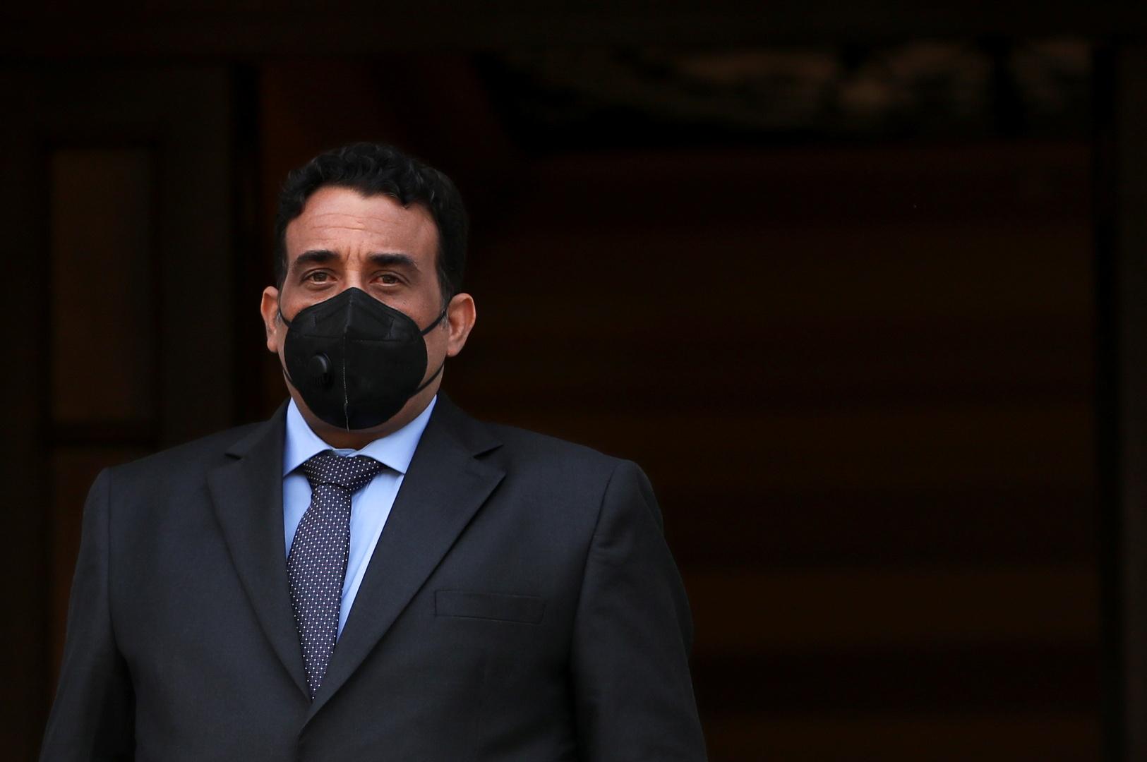 محمد المنفي رئيس المجلس الرئاسي الليبي، صورة من الأرشيف