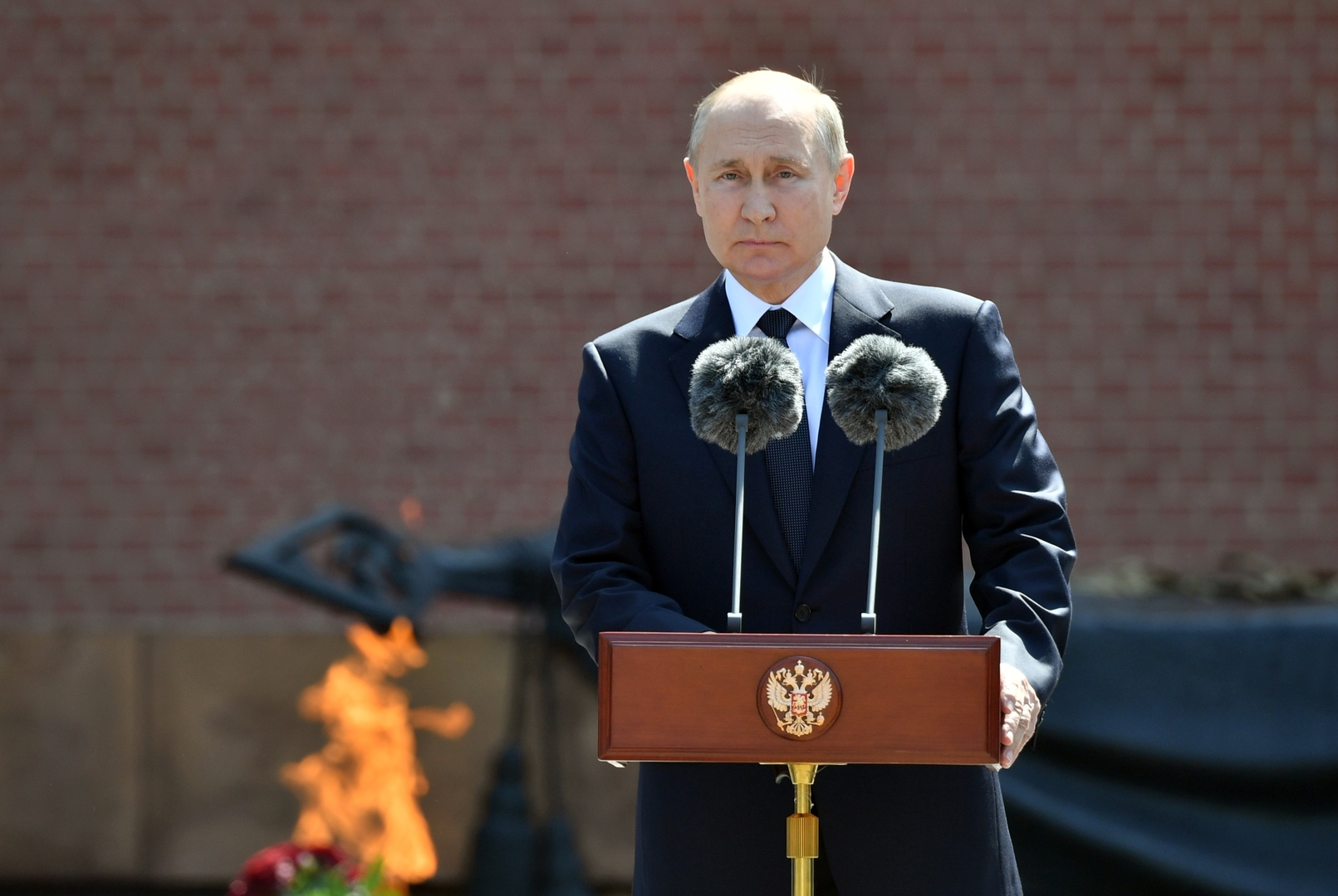بوتين: سنوات الحرب الرهيبة محفورة في ذاكرة الأجيال