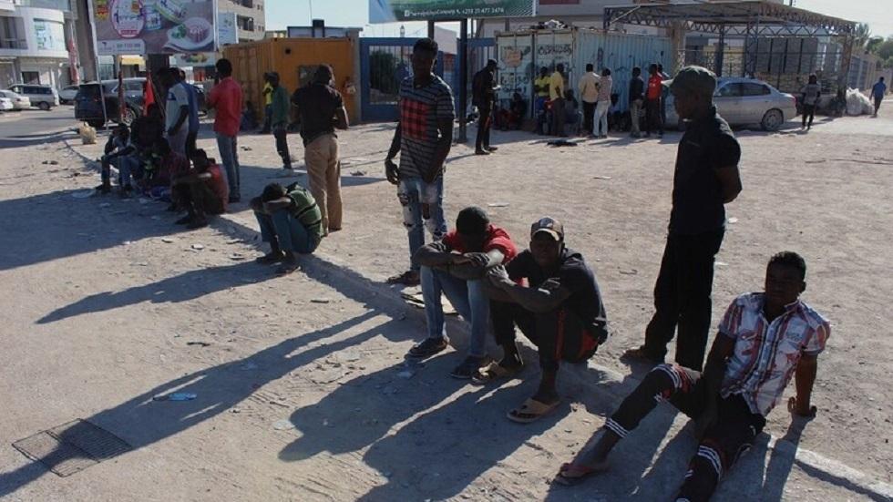 مهاجرون غير شرعيين في ليبيا - أرشيف