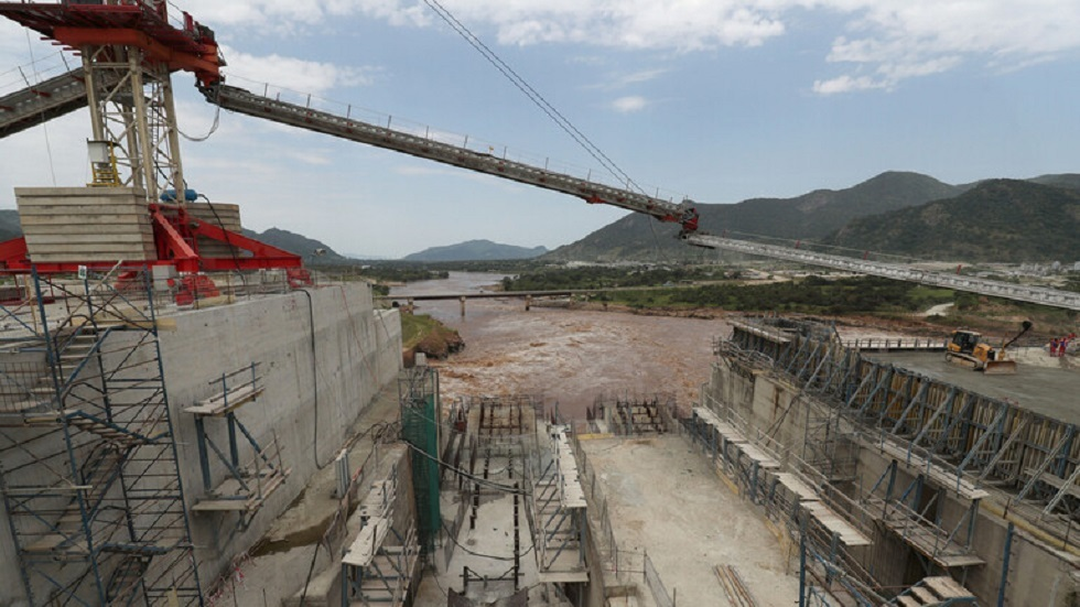 أعمال البناء في سد النهضة الإثيوبي - أرشيف