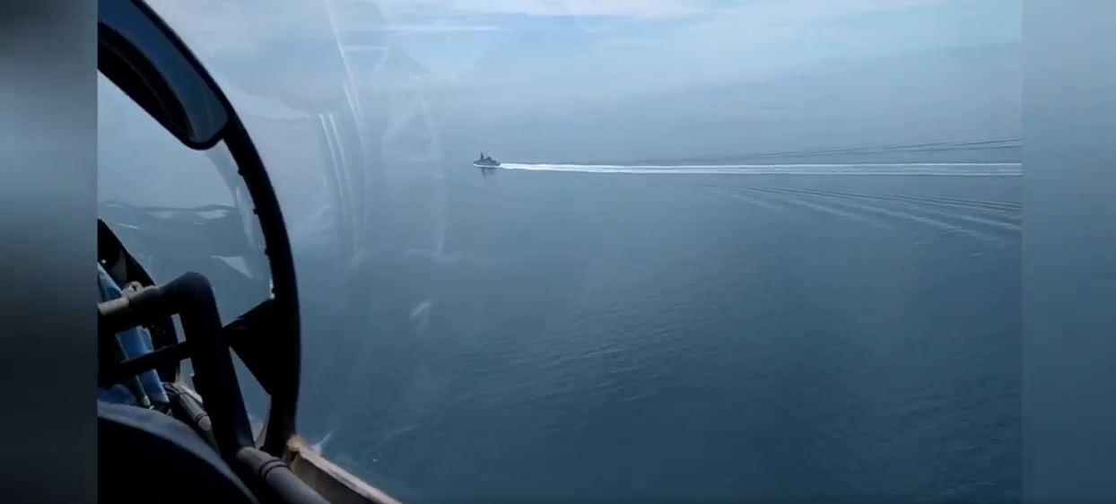 وزارة الدفاع الروسية تنشر الفيديو لواقعة المدمرة البريطانية في البحر الأسود