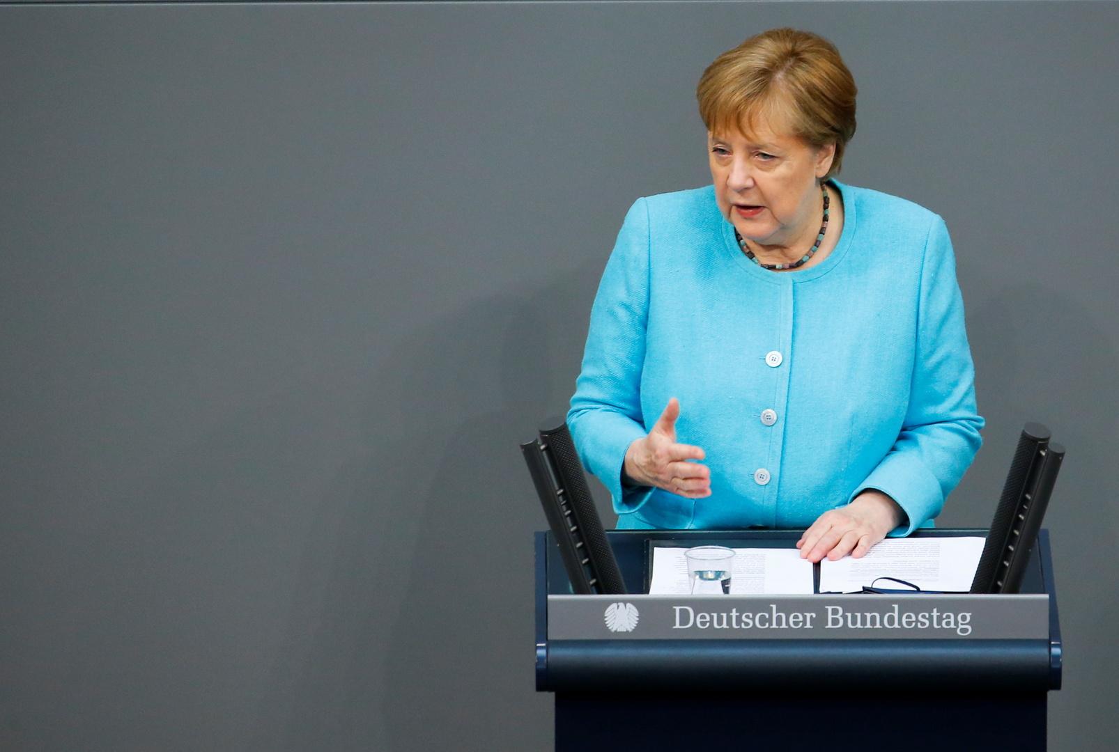ميركل في آخر كلمة أمام البوندستاغ: على الاتحاد الأوروبي التواصل مع روسيا ورئيسها