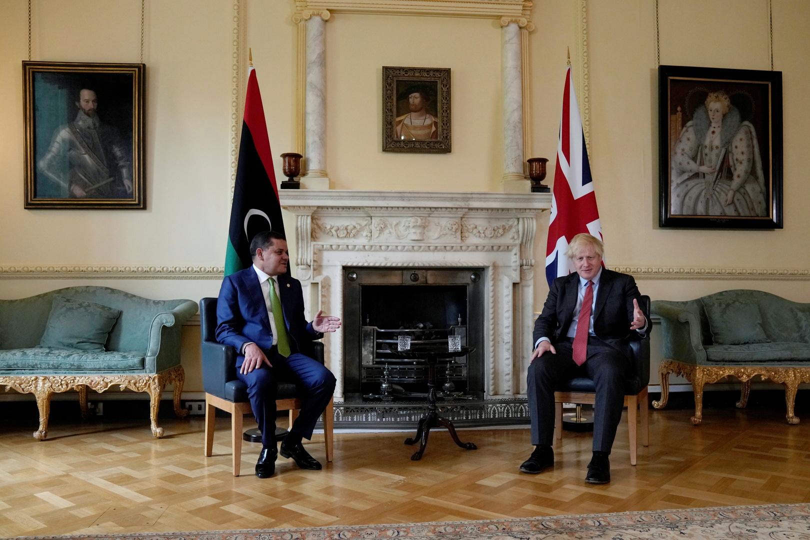 جونسون يؤكد دعمه لجهود رئيس الوزراء الليبي