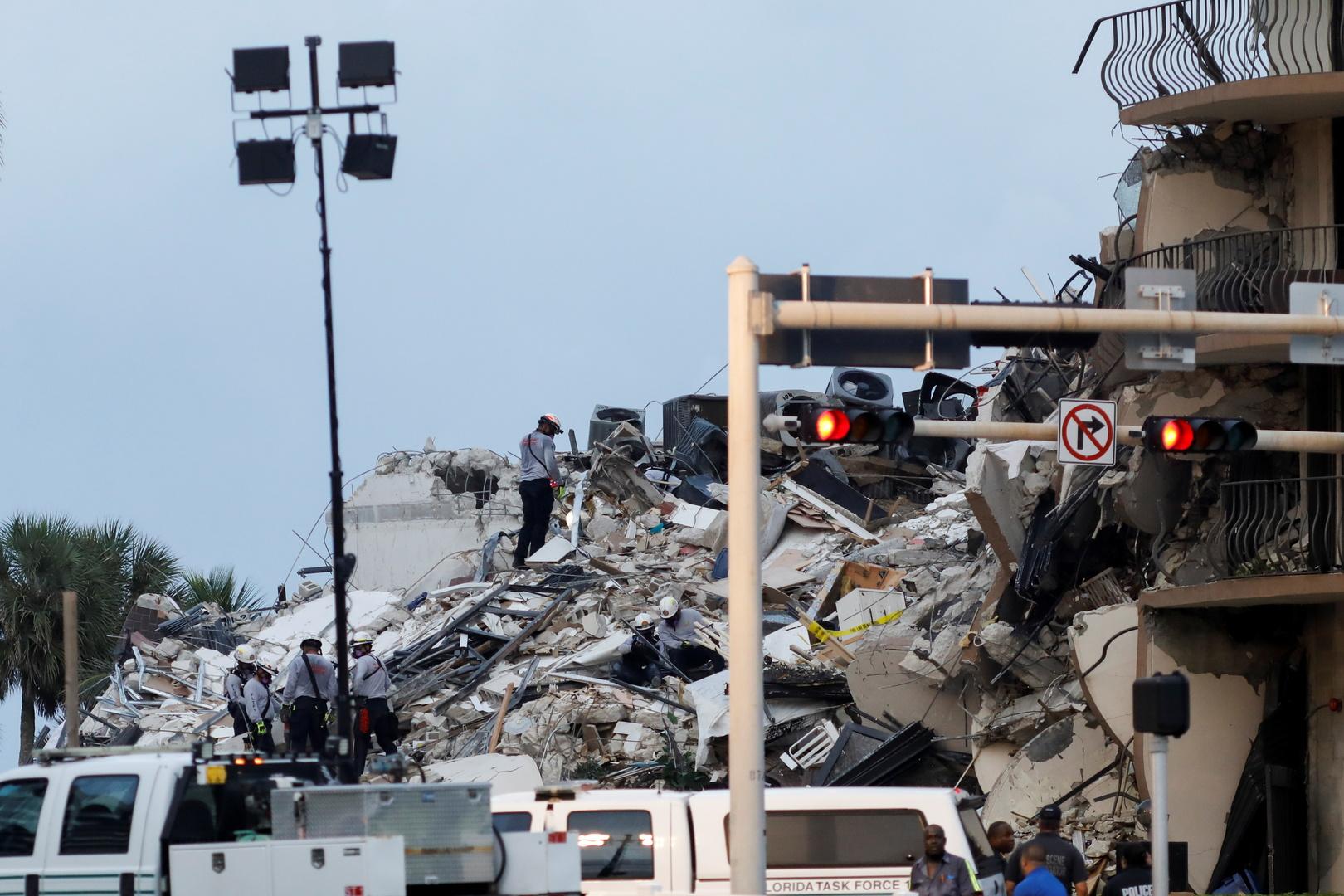4 قتلى ونحو 160 مفقودا جراء انهيار المبنى السكني في فلوريدا