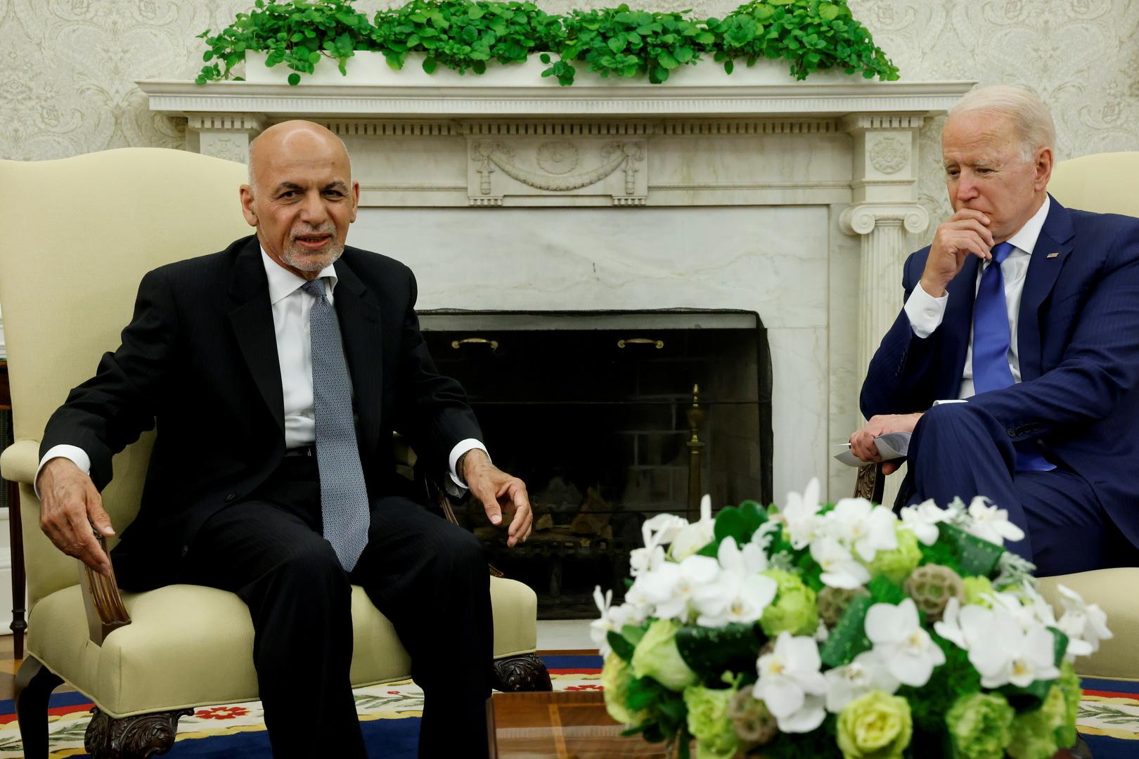 الرئيس الأفغاني أشرف غني يلتقي نظيره الأمريكي جو بايدن في البيت الأبيض